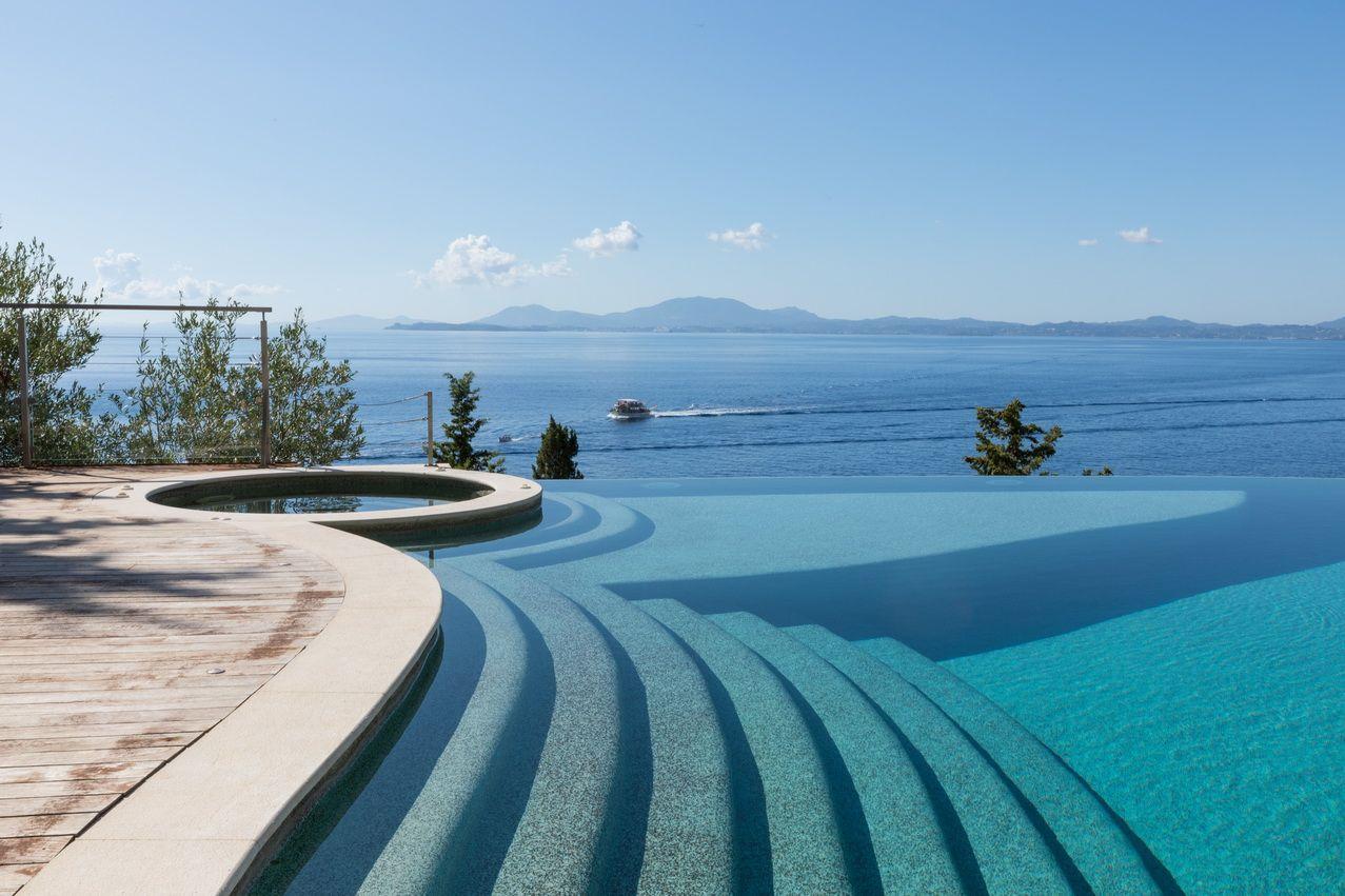 corfu homes infinity pool